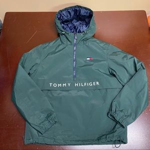 Tommy Hilfiger Lined Hooded Jacket Green Small